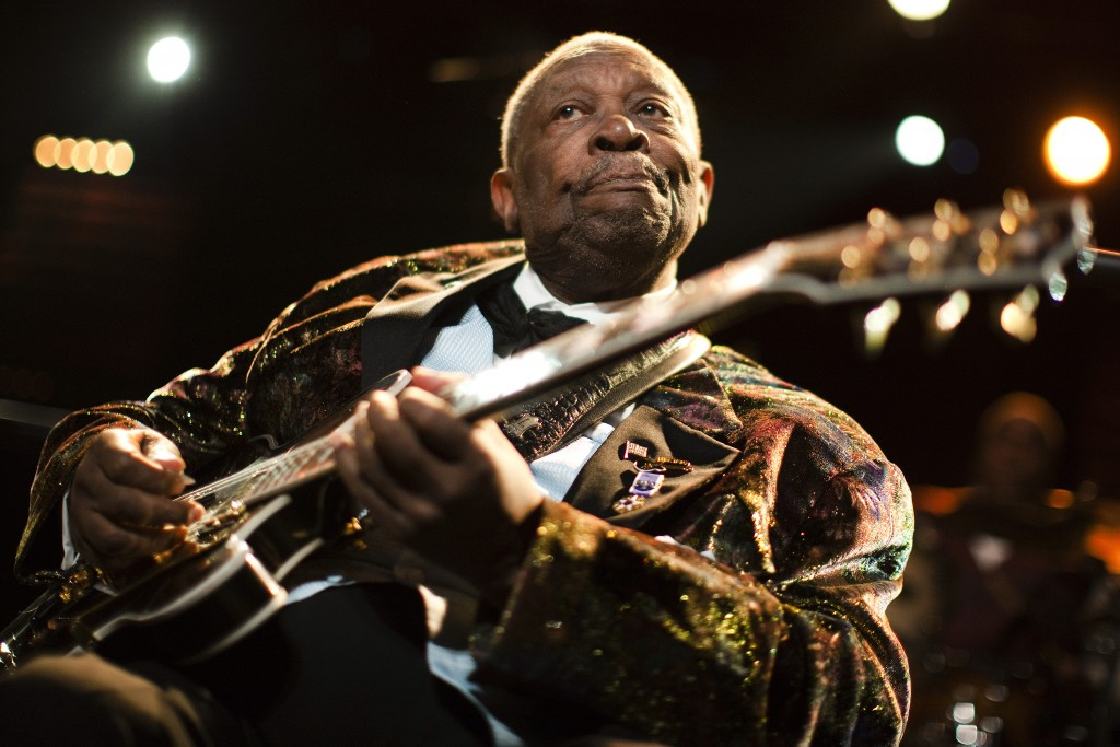 Blues man B.B. King performs onstage during the 45th Montreux Jazz Festival in 2011. The American music legend died XXXXXXX at the age of XX. Photo by Valentin Flauraud/Reuters