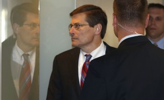 File photo of Michael Morell, left, in 2012 by Larry Downing/Reuters