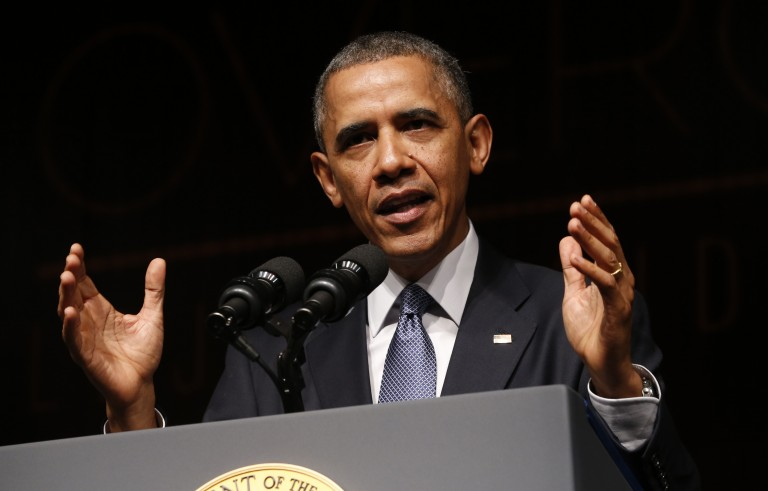 U.S. President Barack Obama has asked the Senate to extend a provision of the Patriot Act that would allow the government to continue to search Americans' phone records. Photo by Kevin Lamarque/Reuters