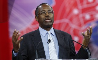 Ben Carson speaks at the Conservative Political Action Conference (CPAC) at National Harbor in Maryland February 26, 2015. Photo by Kevin Lamarque/Reuters