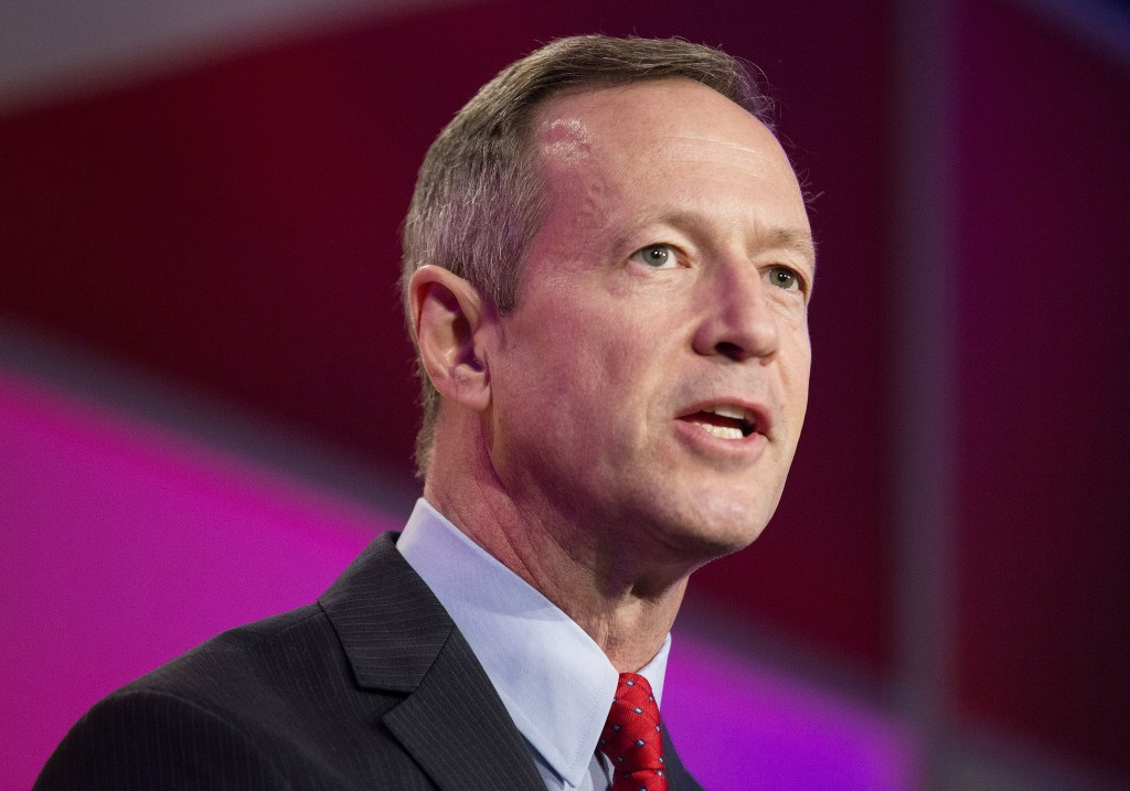 Former Maryland Governor Martin O'Malley is expected to make his White House bid announcement Saturday. Photo by Joshua Roberts/Reuters