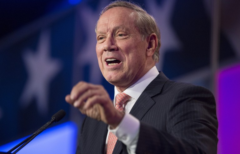 Former New York Governor George Pataki is expected to announce his run for the White House Thursday. Photo by Joshua Roberts/Reuters