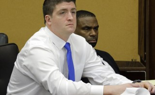 Cleveland police officer Brelo sits during his manslaughter trial in Cleveland