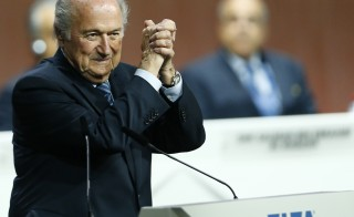 FIFA President Sepp Blatter was reelected at the 65th FIFA Congress in Zurich, Switzerland, on May 29. Photo by Arnd Wiegmann/Reuters