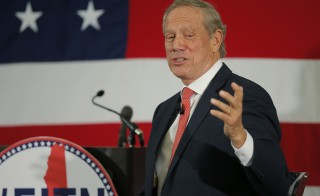 Former New York governor and probable 2016 Republican presidential candidate George Pataki speaks at the First in the Nation Republican Leadership Conference in Nashua