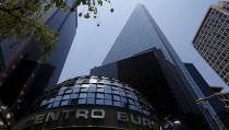 Mexico's stock exchange building is seen in Mexico City