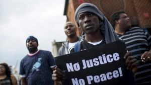 People gather to march in Baltimore, Maryland