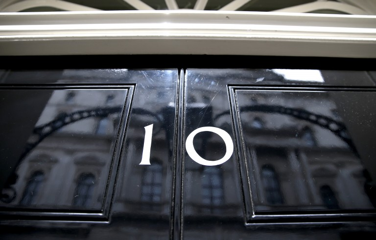 Britain's Prime  Minister's official residence number 10 Downing Street, is seen in London