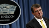 """Defense Secretary Ash Carter speaks at a news conference at the Pentagon in Washington on May 7, 2015. Carter said Sunday that he will find out who was responsible for mistaken shipments of live anthrax  and will """"hold them accountable."""" Photo by Yuri Gripas"""