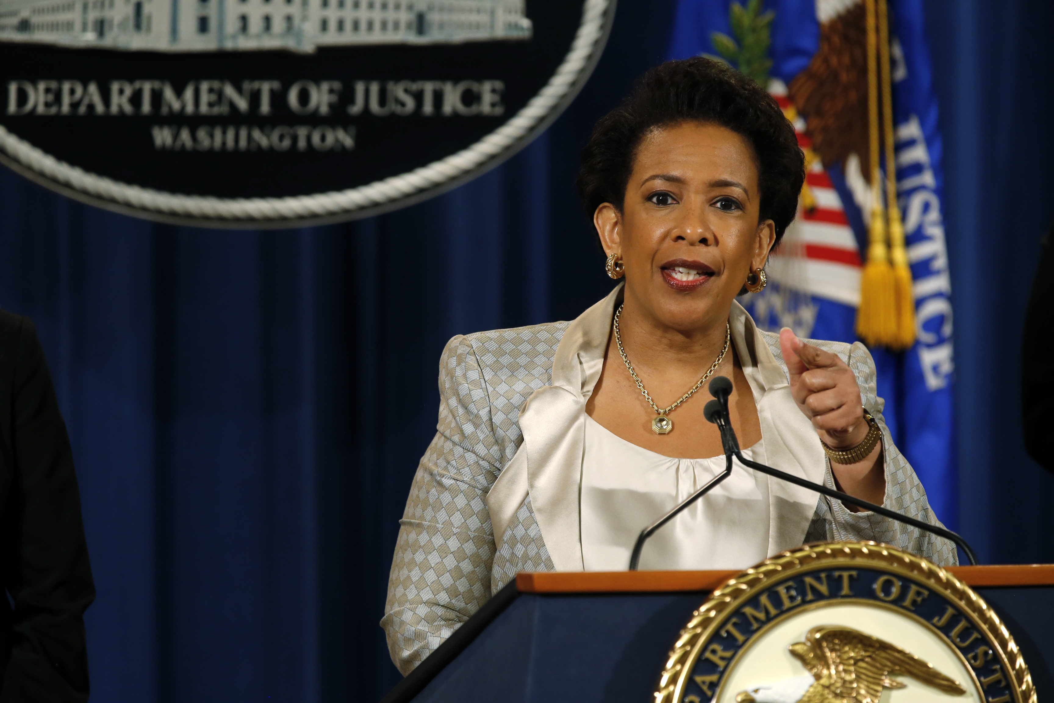Attorney General Loretta Lynch holds a news conference announcing a federal civil rights investigation into the Baltimore Police Department. Photo by Jim Bourg/Reuters