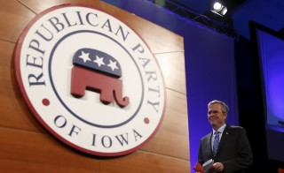 Former Florida Governor Jeb Bush arrives to speak at the Republican Party of Iowa's Lincoln Dinner in Des Moines, Iowa, United States, May 16, 2015. The GOP prospects agree that America should take tougher action against its enemies. Photo by Jim Young/Reuters.