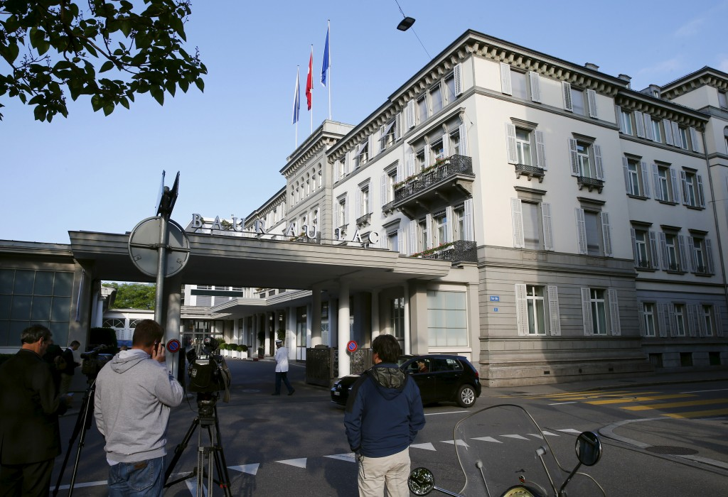 Swiss authorities on Wednesday arrested several high-ranking FIFA officials on corruption charges at the Baur au Lac hotel in Zurich and plan to extradite them to the United States. Photo by Arnd Wiegmann/Reuters