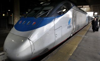 Amtrak's high speed Acela is seen at Washington's Union Station in 2011. Amtrak said today that it will install long-sought cameras inside the cabs of all freight and passenger locomotives. Photo by Larry Downing/Reuters