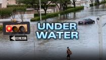 UNDER WATER houston flooding