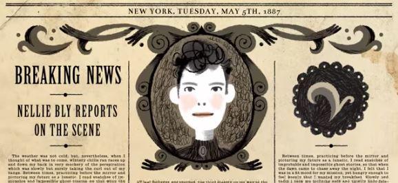 Google doodle Nellie Bly