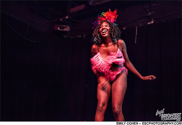 Dainty Dandridge performs in Washington D.C.  photo courtesy Emily Cohen photography