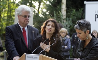 "Diane (C) and John Foley (L), the parents of US journalist James Foley, deliver a speech translated by Radio France reporter Claude Guibal (R) in the war reporters' memorial before the unveiling of a stone in honor of the war reporters killed in 2014, on October 9, 2014 in Bayeux, northwestern France, during the annual Bayeux-Calvados war journalism award week. The prizes were created in 1994 in honour of the 50th anniversary of the Allied landing. James Foley was murdered in August 2014  at the hands of Islamic State jihadists. AFP PHOTO / CHARLY TRIBALLEAU        (Photo credit should read CHARLY TRIBALLEAU/AFP/Getty Images)""We had no one accountable for Jim,"" Diane Foley, the mother of James Foley, said earlier this year. The Foley family has also said the government uses its policy of not paying ransom or negotiating with terrorists to avoid answering families' questions."