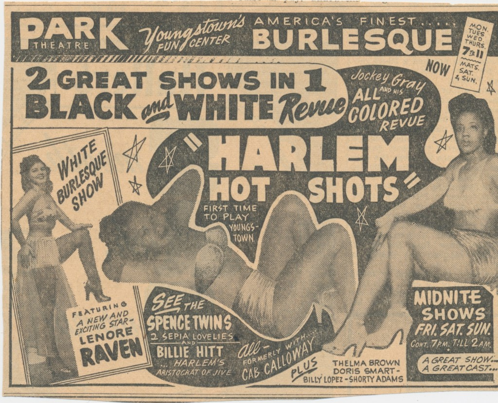 Black and White Revue poster courtesy  of BurlyQNell - Janelle Smith collection.