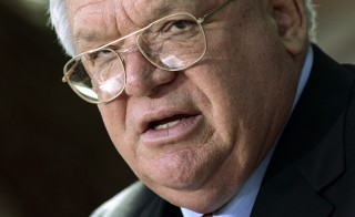 U.S. House Speaker Dennis Hastert speaks about the sex scandal involving congressional pages and former U.S. Rep Mark Foley (R-FL) during a news conference in Batavia, Illinois, October 5, 2006. Hastert is currently facing sexual assault allegations. John Gress/Reuters