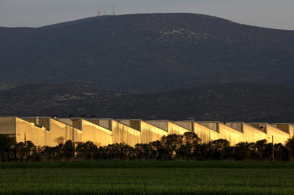 A view shows the Izola factory in the town of Thebes in Sterea Hellas region, Greece April 25, 2015. Izola, a manufacturer of home appliances in Greece was founded in 1930 and closed in 1986. Photo by Yannis Behrakis/Reuters