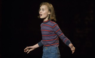 "Actress Sydney Lucas performs a scene from 'Fun Home"" during the American Theatre Wing's 69th Annual Tony Awards at the Radio City Music Hall in Manhattan, New York June 7, 2015. ""Fun Home"" won the award for Best Musical.  Photo by Lucas Jackson/Reuters"