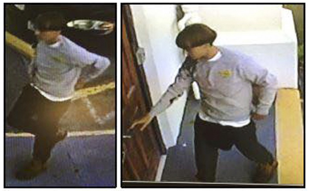 Surveillance video captured the suspect connected with the shooting of nine people at a church in Charleston, South Carolina on June 17. Photo by Charleston Police Department/Handout via Reuters