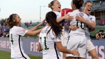 Jun 26, 2015; Ottawa, Ontario, CAN; United States midfielder Carli Lloyd (10) celebrates her goal with teammates against China during the second half in the quarterfinals of the FIFA 2015 Women's World Cup at Lansdowne Stadium. Mandatory Credit: Marc DesRosiers-USA TODAY Sports - RTX1I031