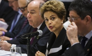Brazil's President Dilma Rousseff meets with business leaders in New York Monday during a visit to the United States. Photo by Lucas Jackson/Reuters