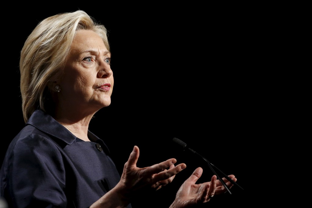 Democratic U.S. presidential candidate and former Secretary of State Hillary Clinton addresses the U.S. Conference of Mayors Annual Meeting in San Francisco June 20, 2015. Photo by Stephen Lam/Reuters