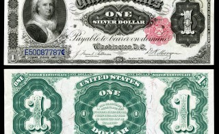 The last U.S. note featuring a woman's portrait was the 1891 one dollar bill.