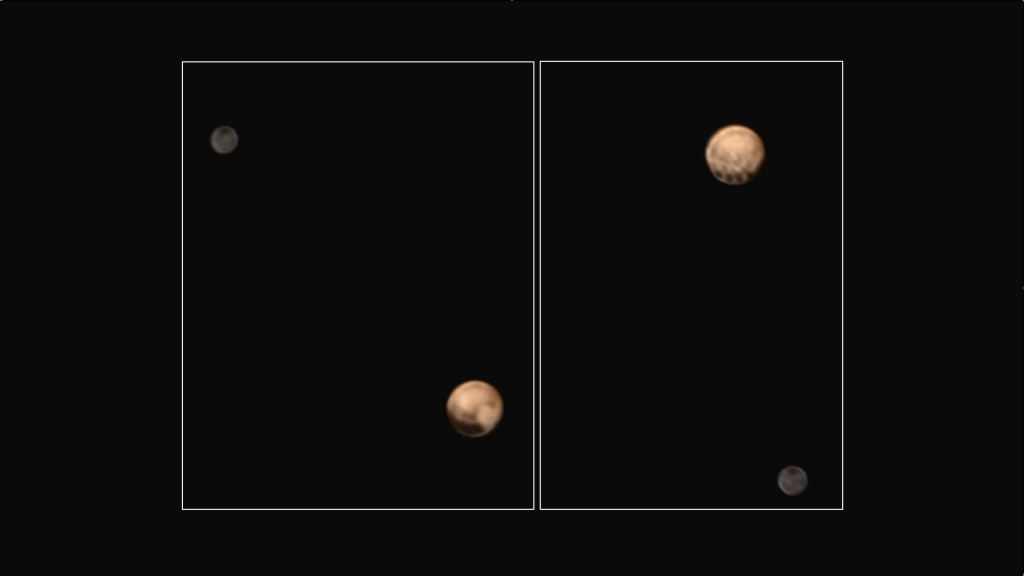 New color images from the New Horizons spacecraft show two very different faces of the mysterious dwarf planet, one with a series of intriguing spots along the equator that are evenly spaced. Each of the spots is about 300 miles in diameter, with a surface area that's roughly the size of the state of Missouri. Photo by NASA/Johns Hopkins University Applied Physics Laboratory/Southwest Research Institute