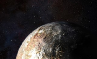 NASA's New Horizons probe will search for clouds on Pluto, as depicted in this artist's conception. The final course was set for probe earlier today. Illustration by Johns Hopkins University Applied Physics Laboratory.