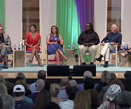 Gwen Ifill moderates a panel at the Aspen Ideas Festival. Photo from Twitter/Aspen Ideas
