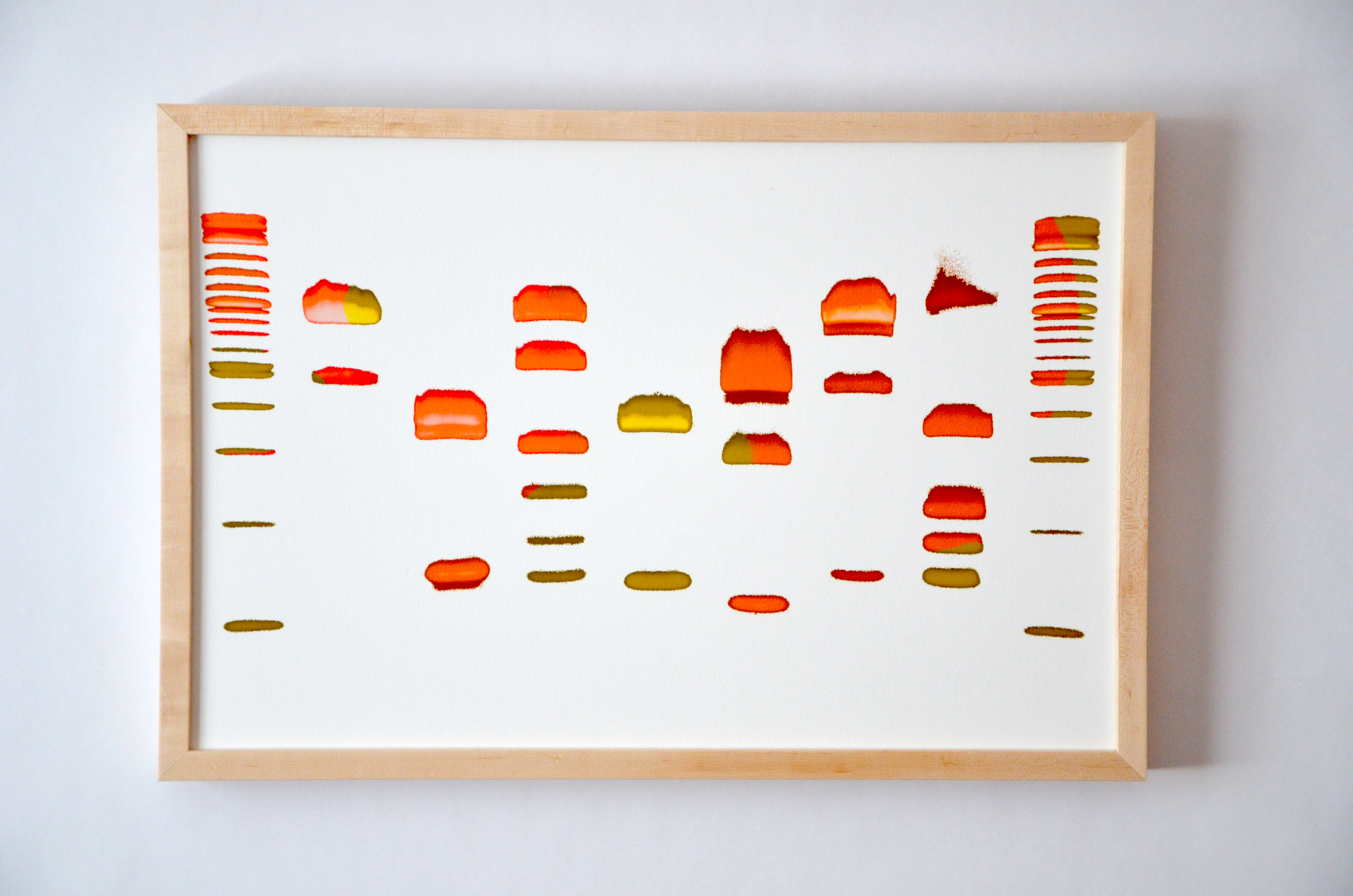 "Austin Street Brew Co. -- A photograph from Dash Masland's art collection ""Beer DNA,"" visualizing the DNA of yeast used to brew beer. This photo shows DNA from Austin Street Brew Co.'s yeast blend."