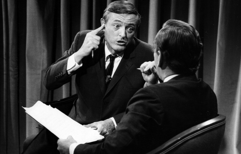William F. Buckley and Gore Vidal frequently traded barbs during ABC News' 1968 political convention coverage. Their on-air friction laid the groundwork for modern political punditry. Photo by ABC Photo Archives/ABC via Getty Images