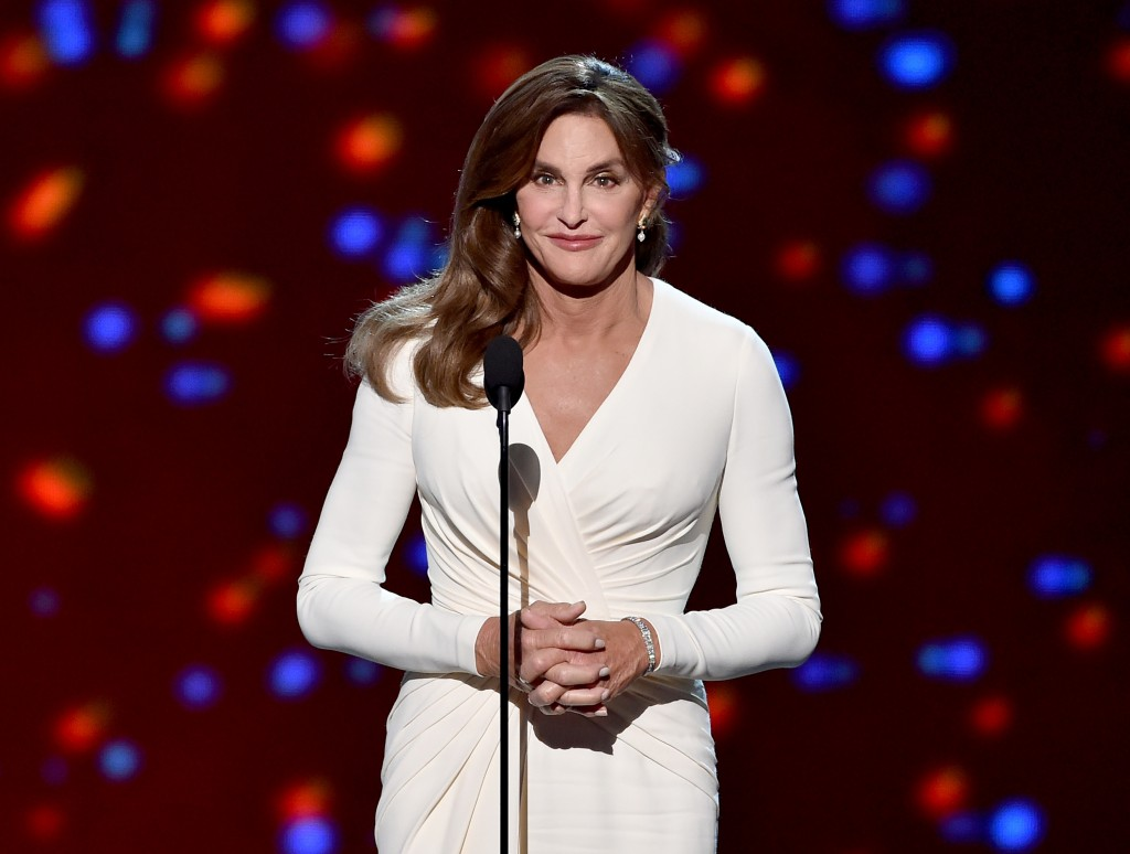 onstage during The 2015 ESPYS at Microsoft Theater on July 15, 2015 in Los Angeles, California. LOS ANGELES, CA - JULY 15: Honoree Caitlyn Jenner accepts the Arthur Ashe Courage Award onstage during The 2015 ESPYS at Microsoft Theater on July 15, 2015 in Los Angeles, California. (Photo by Kevin Winter/Getty Images)