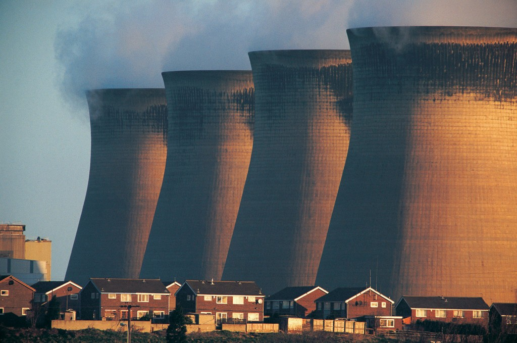 The consequences of climate change and global warming. Coal-fired power station, Ferrybridge, UK Photo by Digital Vision/via Getty Images.