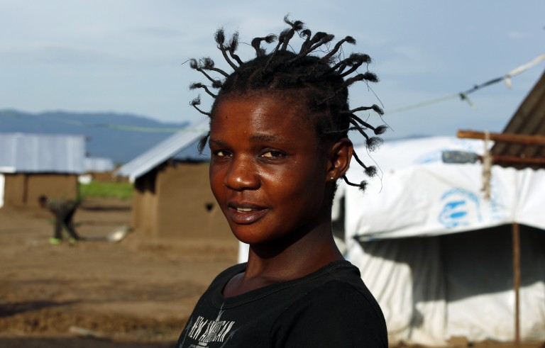 A woman from the Democratic Republic of Congo is one of about 180,000 refugees living at the Kakuma refugee camp in northwestern Kenya. Photo taken on May 17, 2012 is by Thomas Mukoya/Reuters