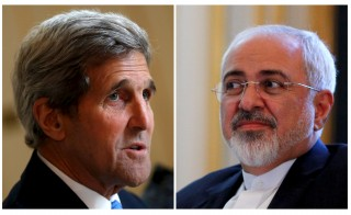 This combination picture shows U.S. Secretary of State John Kerry, left, during a meeting at a hotel in Vienna on July 1 and Iranian Foreign Minister Mohammad Javad Zarif during a meeting at a hotel in Vienna on July 3. Iran's foreign minister said on Monday some differences still remained between Iran and six powers over the country's disputed nuclear program ahead of Tuesday's deadline for a final agreement to end a 12-year-old dispute. Photo by Carlos Barria/Reuters