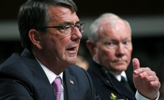 U.S. Secretary of Defense Ash Carter (L) and Chairman of the Joint Chiefs of Staff General Martin Dempsey testify during a Senate Armed Services Committee hearing on ISIS in Washington, D.C., on July 7, 2015. Pentagon officials are expected to announce the end of its $500 million program to train and equip Syrian rebels. Photo by Kevin Lamarque/Reuters