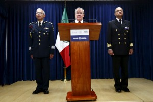 Monte Alejandro Rubido, National Security Commissioner, speaks during a news conference in Mexico City, July 12, 2015. Photo by Edgard Garrido/Reuters.
