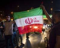 "Iranians celebrate on the streets following a nuclear deal with major powers, in Tehran July 14, 2015. Iran's president Hassan Rouhani said on Tuesday a nuclear deal with major powers would open a new chapter of cooperation with the outside world after years of sanctions, predicting the ""win-win"" result would gradually eliminate mutual mistrust.  REUTERS/TIMA ATTENTION EDITORS - THIS PICTURE WAS PROVIDED BY A THIRD PARTY. REUTERS IS UNABLE TO INDEPENDENTLY VERIFY THE AUTHENTICITY, CONTENT, LOCATION OR DATE OF THIS IMAGE. FOR EDITORIAL USE ONLY. NOT FOR SALE FOR MARKETING OR ADVERTISING CAMPAIGNS. NO THIRD PARTY SALES. NOT FOR USE BY REUTERS THIRD PARTY DISTRIBUTORS. - RTX1KAPQ"