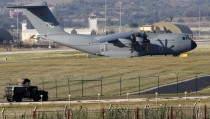 A Turkish Air Force A400M tactical transport aircraft is parked at Incirlik airbase in the southern city of Adana, Turkey, July 24, 2015. Turkey has agreed to allow U.S. planes to launch air strikes against Islamic State militants from the U.S. air base at Incirlik, close to the Syrian border, U.S. defense officials said on Thursday. The decision, disclosed a day after a telephone call between President Barack Obama and Turkish President Tayyip Erdogan, follows long-time reluctance by Ankara to become engaged in the fight against Islamist militants. Turkey has faced increasing insecurity along its 900-km (560-mile) border with Syria. REUTERS/Murad Sezer - RTX1LOPH