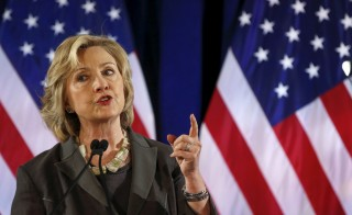 Democratic presidential candidate Hillary Clinton speaks during an event at New York University, July 24, 2015. A new letter from intelligence investigators to the Justice Department says secret government information may have been compromised in Hillary Rodham Clinton's private server. Photo by Shannon Stapleton/Reuters