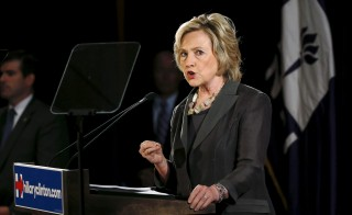 U.S. Democratic presidential candidate Hillary Clinton speaks during an event at the New York University Leonard N. Stern School of Business in New York July 24, 2015.  REUTERS/Shannon Stapleton - RTX1LPHI