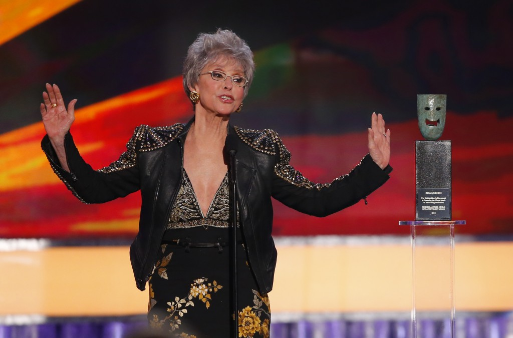 Actress Rita Moreno. Photo by Mike Blake/Reuters.