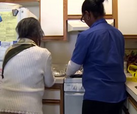 Eighty-seven-year-old Eileen Daniels lives by herself in New York City. She prepares her own meals and pays strict attention to even the smallest aches and pains, scheduling doctor visits when necessary. Daniels is remarkably healthy and motivated to stay that way. Screen grab from David Pelcyger