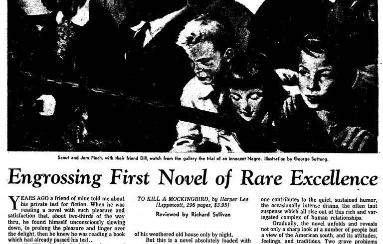 """August 1960 review of """"To Kill a Mockingbird"""" in Time magazine. Image courtesy of Library of Congress"""