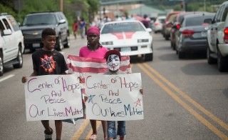 <> on August 8, 2015 in Ferguson, Missouri.