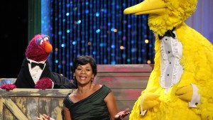 LOS ANGELES, CA - AUGUST 30:  Actress Sonia Manzano performs with 'Big Bird onstage during the 36th Annual Daytime Emmy Awards at The Orpheum Theatre on August 30, 2009 in Los Angeles, California.  (Photo by John Shearer/FilmMagic for ATI)